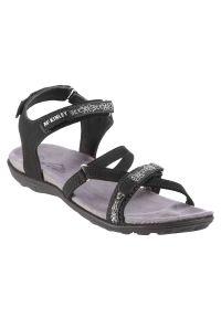 Sandały damskie McKinley Aruba 288350. Zapięcie: rzepy. Materiał: nubuk, materiał, guma. Wzór: paski. Sport: turystyka piesza