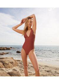 Brązowy strój kąpielowy jednoczęściowy Etam