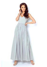 Szara długa sukienka IVON wizytowa