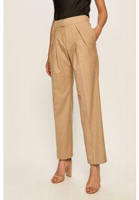 Brązowe spodnie materiałowe Stefanel