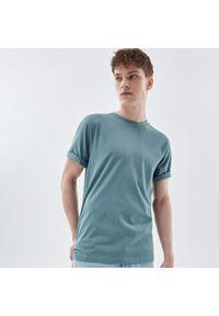 Cropp - Gładka koszulka - Zielony. Kolor: zielony. Wzór: gładki