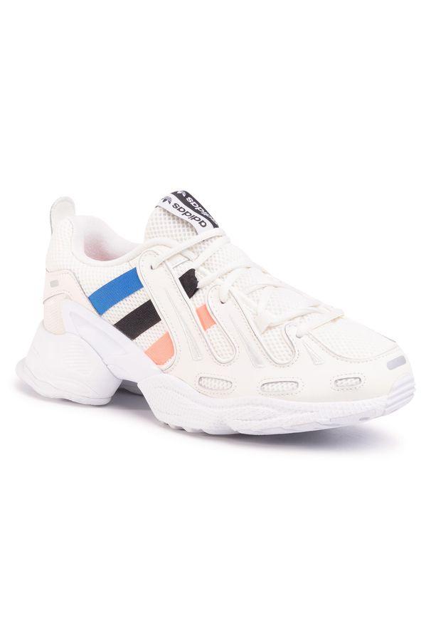 Białe półbuty Adidas klasyczne, z cholewką