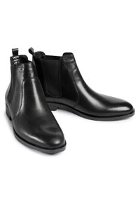 Czarne buty zimowe Wojas
