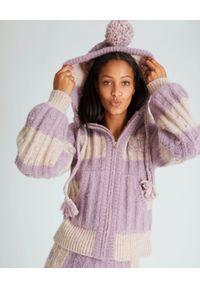 LOVE SHACK FANCY - Kolorowy sweter Tirzah. Okazja: na co dzień. Kolor: beżowy. Materiał: jeans, wełna. Wzór: kolorowy. Sezon: wiosna. Styl: casual, klasyczny