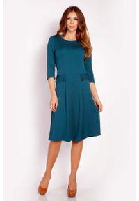 Zielona sukienka wizytowa Lou-Lou midi