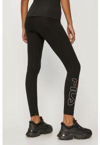 Czarne legginsy Fila gładkie