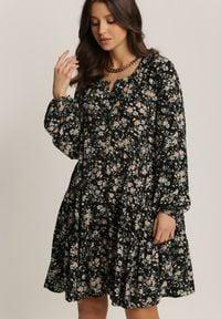 Renee - Czarna Sukienka Acoseusa. Kolor: czarny