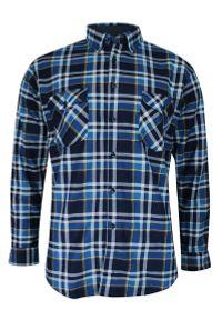 Niebieska koszula długa, na zimę