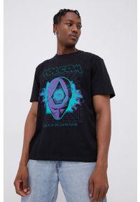 Volcom - T-shirt bawełniany x Max Loeffler. Okazja: na co dzień. Kolor: czarny. Materiał: bawełna. Wzór: nadruk. Styl: casual