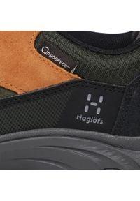 Haglöfs - Trekkingi HAGLÖFS - Skuta Low Proof Eco Men 498410 Oak/Deep Woods. Kolor: zielony. Materiał: skóra ekologiczna, skóra, materiał, zamsz. Szerokość cholewki: normalna. Sport: turystyka piesza