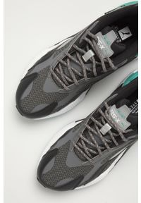 Szare buty sportowe Puma z okrągłym noskiem, na sznurówki, z cholewką