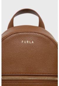 Furla - Plecak skórzany Libera. Kolor: brązowy. Materiał: skóra