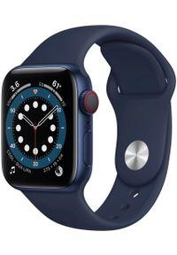 APPLE - Apple smartwatch Watch Series 6 Cellular, 40mm Blue Aluminium Case with Deep Navy Sport Band. Rodzaj zegarka: smartwatch. Kolor: niebieski. Styl: sportowy