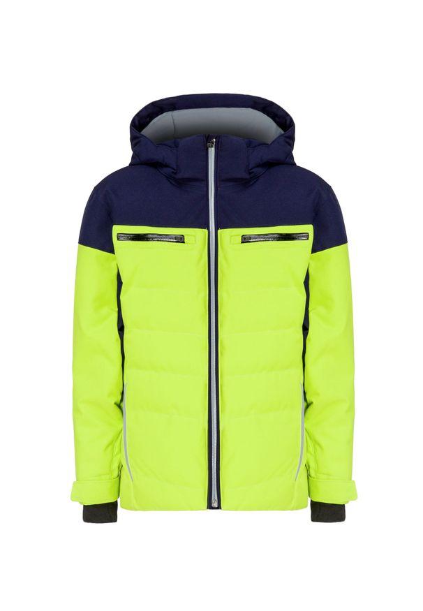 Zielona kurtka zimowa Descente sportowa