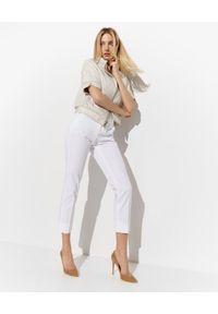 Biała kurtka z krótkim rękawem, krótka