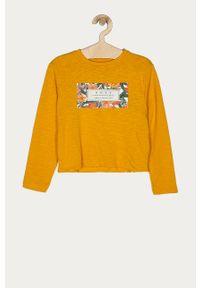 Pomarańczowa bluza Roxy bez kaptura, z nadrukiem