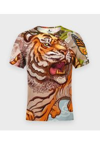 MegaKoszulki - Koszulka męska fullprint Tiger. Materiał: bawełna, dzianina, materiał, poliester. Styl: klasyczny