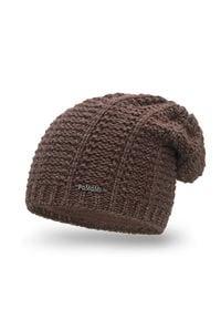 Zimowa czapka damska PaMaMi - Czekolada. Materiał: poliamid, akryl. Sezon: zima