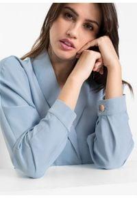 Bluzka zakładana przez głowę bonprix jasnoniebieski. Kolor: szary. Długość rękawa: długi rękaw. Długość: długie