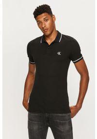 Czarna koszulka polo Calvin Klein Jeans krótka, casualowa, na co dzień, polo