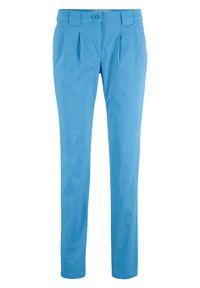 Niebieskie spodnie bonprix casualowe, w kwiaty