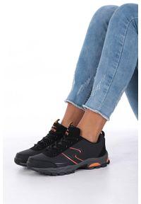 Szare buty trekkingowe Casu sportowe, z cholewką