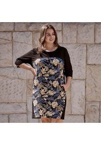 Sukienka dla puszystych Moda Size Plus Iwanek casualowa, na co dzień, z nadrukiem