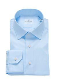 Niebieska koszula Emanuel Berg długa, elegancka, z klasycznym kołnierzykiem