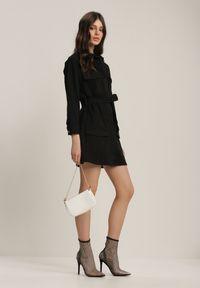 Renee - Czarna Kurtka Hyrana. Okazja: na co dzień. Kolor: czarny. Materiał: jeans. Długość rękawa: długi rękaw. Długość: długie. Styl: casual