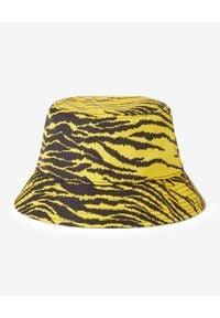 Kenzo - KENZO - Żółty kapelusz w zebrę. Kolor: żółty. Wzór: motyw zwierzęcy. Styl: klasyczny