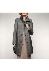 Szary płaszcz Wittchen na zimę, klasyczny