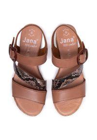 Brązowe sandały Jana casualowe, na co dzień