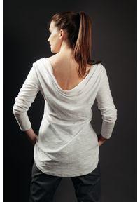 Biała bluzka Hultaj Polski wakacyjna, długa, z długim rękawem