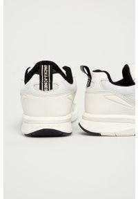 Białe sneakersy Jack & Jones z okrągłym noskiem, z cholewką, na sznurówki