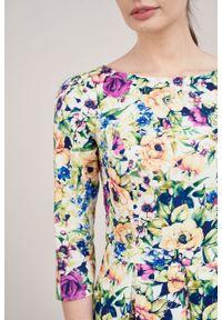 Marie Zélie - Sukienka Chione Muscosa. Materiał: bawełna, skóra, materiał, elastan