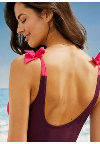 Fioletowy strój kąpielowy bonprix moda ciążowa