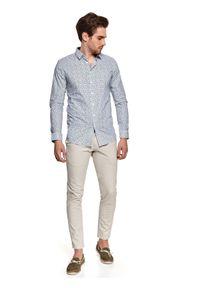 Biała koszula TOP SECRET z nadrukiem