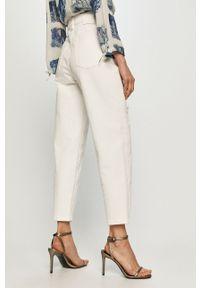 Białe jeansy loose fit Miss Sixty gładkie, klasyczne, z podwyższonym stanem