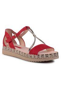 Czerwone sandały Libero casualowe, na co dzień