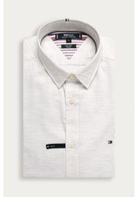Biała koszula TOMMY HILFIGER długa, na co dzień, z klasycznym kołnierzykiem, klasyczna