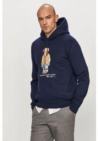 Niebieska bluza nierozpinana Polo Ralph Lauren na co dzień, casualowa