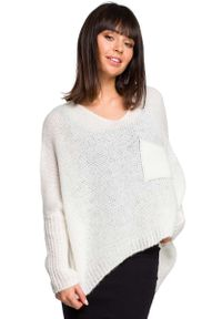Sweter oversize MOE z asymetrycznym kołnierzem