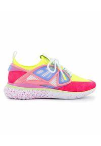 SOPHIA WEBSTER - Neonowe sneakersy Fly-By. Zapięcie: sznurówki. Kolor: fioletowy, różowy, wielokolorowy. Materiał: materiał