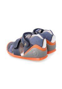 Niebieskie sandały Biomecanics na rzepy