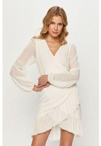 Biała sukienka Vila casualowa, prosta