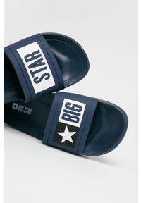 Niebieskie klapki Big-Star na średnim obcasie, na obcasie
