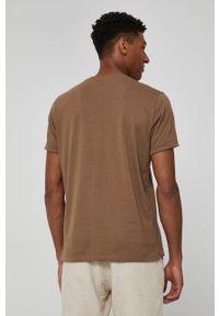 medicine - Medicine - T-shirt Basic. Kolor: brązowy. Materiał: bawełna, dzianina, włókno