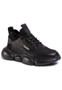 Czarne sneakersy Togoshi z cholewką