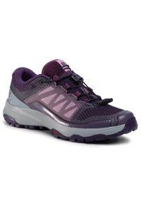 Fioletowe buty do biegania salomon na co dzień, z cholewką