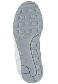 Białe buty sportowe Nike na sznurówki, Nike MD Runner, z cholewką